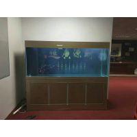 艺景生态鱼缸全铝木纹款水族箱家用中型小型龙鱼缸