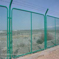海口隔离栅厂家浸塑河道护栏网斜方围栏网价格