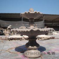 广场水池喷泉景观 砂岩艺术雕塑跌水盆 黄锈石雕水盆