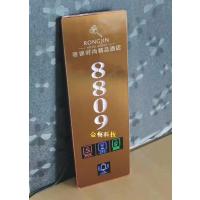 厂家直销正品房号牌 不锈钢拉丝面板86底盒安装 多功能定制电子门牌