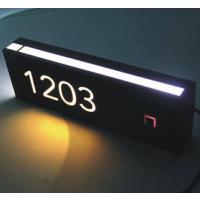 不锈钢酒店房号牌 触摸功能电子门牌 叮咚门铃 房号显示牌