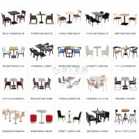 青海西餐厅快餐店家具餐桌餐椅沙发卡座厂家直供可定制尺寸款式
