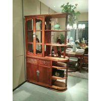 湖南刺猬紫檀现代中式餐边柜酒柜款式