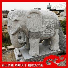 大型汉白玉大象 惠安石雕大象生产加工