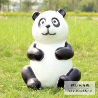 户外卡通动物熊猫树脂摆件园林景观小品商场商业美陈庭院装饰