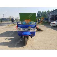 牛羊草料粉碎后自动撒料车 三轮车载式撒料车规格 润众
