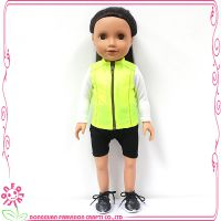 外贸爆款46cmPVC美国女孩娃娃可爱长发运动装公仔儿童玩具
