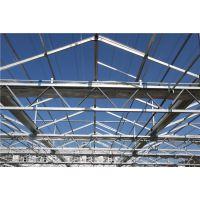 福建泉州 连栋玻璃智能纹络型圆顶温室大棚 565玻璃厂商造价