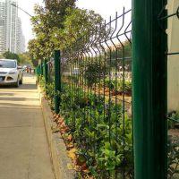 桃型柱铁丝网围栏 城市绿化隔离护栏网 小区围墙护栏网厂家直销
