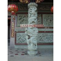 石雕龙柱厂家 寺庙古建龙柱 多种浮雕石柱设计定制