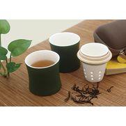 有节陶瓷竹筒茶具 旅行便携茶具套装 茶具礼品 陶瓷摆件