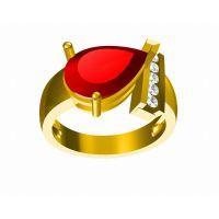 钛合金立体男款戒指私人订制 网站 女戒指环饰品—金属首饰加工厂