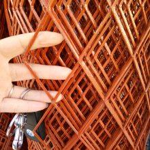 圈苞米网板价格 红色菱形钢板网 养殖防护网栏