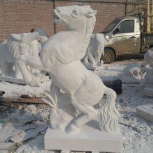 石雕马汉白玉马到成功雕塑摆件生肖工艺品曲阳万洋雕刻厂家定做