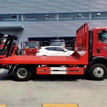 四川重汽蓝牌小挖机拖车可在市区跑的挖机平板车
