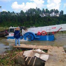 四川水葫芦打捞船型号 收割水浮莲设备