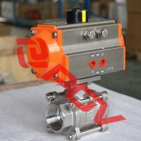 气动三片式球阀 3PC螺纹球阀带平台