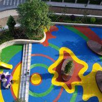 厂家供应幼儿园epdm塑胶防滑跑道材料幼儿园室外活动彩色塑胶地面
