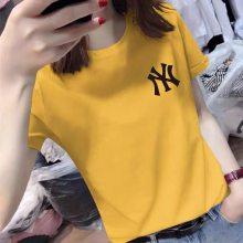 休闲韩版大码女装 胖MM夏季短袖T恤 圆领宽松女士半袖蝙蝠衫