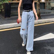 夏季女装破洞毛边牛仔裤批发厂家直销10元以下牛仔裤