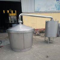 优质白钢酿酒设备价格不糊锅式烧酒设备冷凝器蒸酒锅