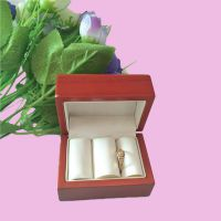 骥远包装厂家直销木质喷油戒指盒双戒指包装盒吊坠盒耳钉盒饰品包装盒