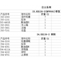 供应日立EX120-2(HPV091)液压泵配件