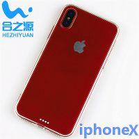 合之源产iphoneX二合一手机壳苹果X简约纯色TPU+PC硬背防刮花全透明厂家生产可定制