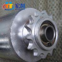厂家直销|定制|镀锌单链轮滚筒|天津链条动力滚筒|不锈钢单排齿轮|齿轮滚筒|输送线配件|宏创