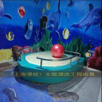 上海主题酒店圆床 双人情趣水床 震动情趣床 宾馆电动红床