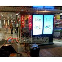 欧视卡机场酒店电影院55寸落地式双屏广告机 立式海报机 安卓网络八核