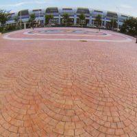桓石 上海彩色艺术地坪 压模地面材料强化料,着色脱模粉,密封剂,纹理模具