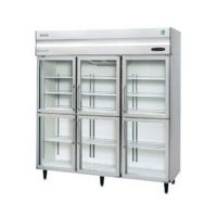 星崎HOSHIZAKI六门冷藏展示柜 高身玻璃门展示冰箱HRE-187B-CHD-G(风冷型 六门冷