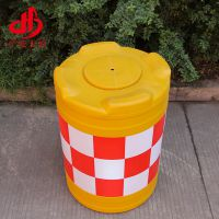 防撞桶 厂家批发吹塑工艺道路公路防撞路墩 加厚PE塑料安全防撞桶
