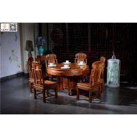 东阳红木餐桌-古典中式花梨木餐桌-如金红木供应