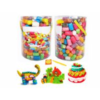 【热销积木】儿童玉米粉粘水积木【PVC圆筒包装】H034975