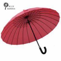 供应[厂家推荐]高档24骨烤黑漆钢架广告伞 直杆伞广告雨伞礼品伞