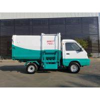 河南许昌电动四轮垃圾车 自装自卸挂桶式垃圾车价格 4方全封闭箱体