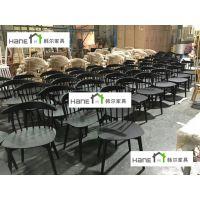 供应上海复旦大学餐厅实木桌椅 食堂实木餐桌椅定制工厂 韩尔简约品牌