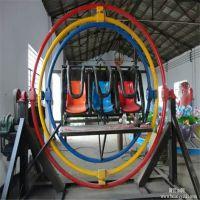 漯河儿童主题游乐场360度旋转太空环座椅玻璃钢材质旋转座椅可移动太空环