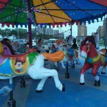 新款简易折叠旋转木马游乐设备儿童可移动转马广场庙会爆款促销