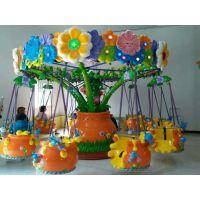 中山汉唐厂家直销产品旋转百花飞椅游乐设备 玻璃钢