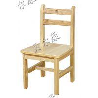 厂家批发贝尔康幼儿园实木儿童椅子 简易橡木背靠椅 原木儿童椅