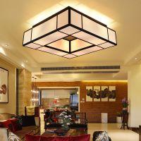 现代新中式吊灯 餐厅客厅灯 简约温馨铁艺创意酒店大厅中式布艺吊灯