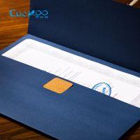 布谷鸟 欧式创意烫金封套 A4荣誉证书纸质封皮 定做奖状毕业信封式外壳特种纸
