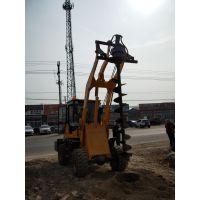 螺旋式打桩机 铲车改装挖坑机 改装挖坑机 鼎力质量保证