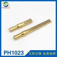 5.0mm电机插头 马达插头 黄铜镀金莲花式香蕉插头尾部加长