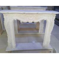 石雕壁炉装饰柜简约美式壁炉电视柜大理石壁炉架天然石材壁炉欧式