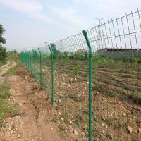 公路双边丝护栏网 圈地双边钢丝围栏网 1.8米高双绿色边丝折弯护栏网