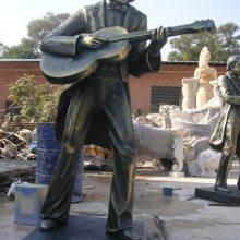 音乐厅铸铜大提琴演奏家小提琴表演者弹奏竖琴人物雕像玻璃钢弹吉他音乐人雕塑树脂弹拨弦乐器乐队人物铜塑像